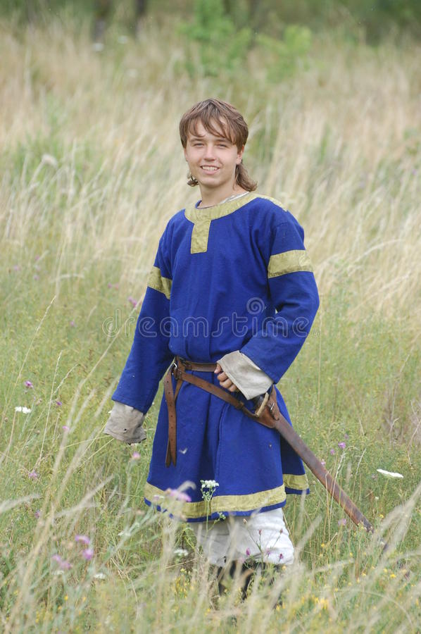 Living history.Medieval. Historical reenactment in Kiev.Living history stock photography