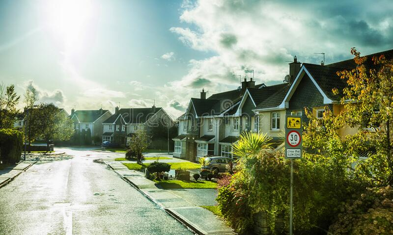 Living houses near Kinsale village, Ireland royalty free stock photos