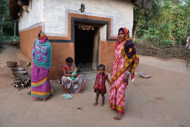 Living India. India`s 80% people living in rural aria.Their lifestyle is very simple and pretty stock photo