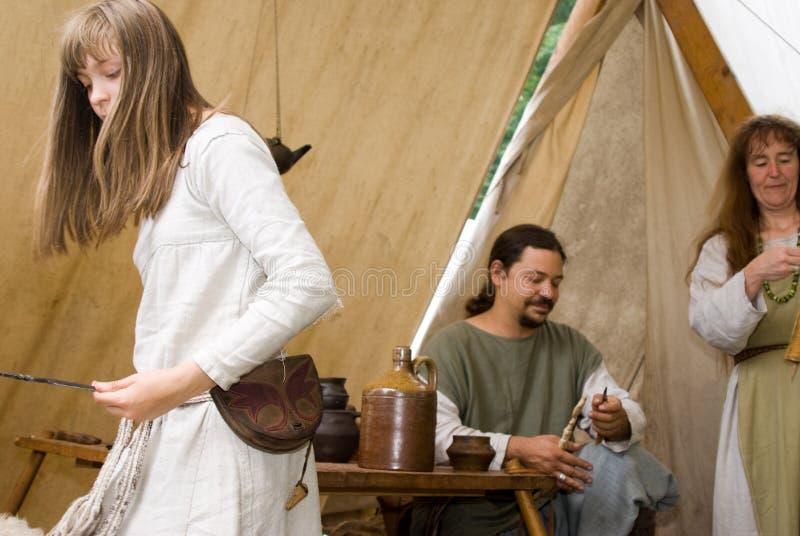 Living in mediaeval stock image