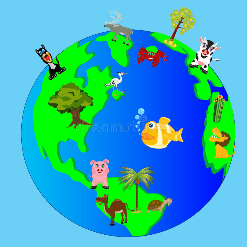 Living nature of the planet land royalty free illustration
