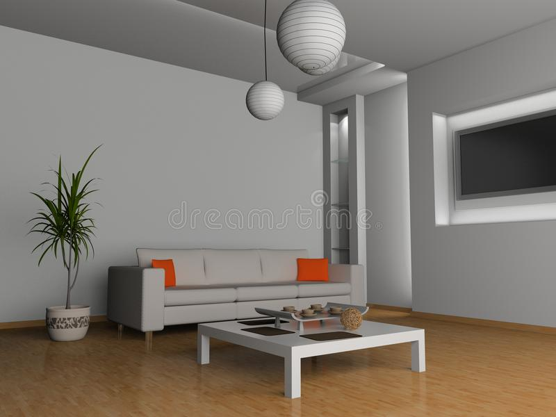 Download Living room stock illustration. Illustration of floor - 10091847