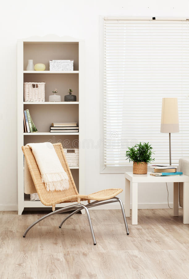 Download Living room stock image. Image of books, white, room - 10774283