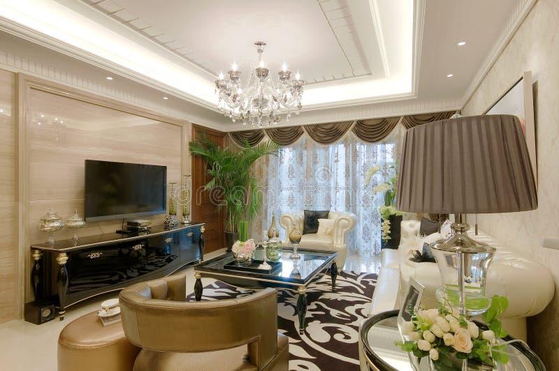 Download Living room stock photo. Image of cozy, chandelier, inside - 17790616