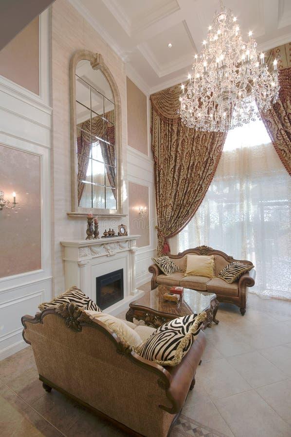 Download Living room stock image. Image of condo, elegance, chandelier - 17833833