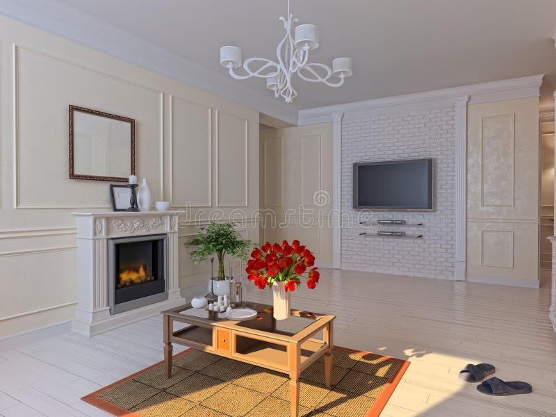 Download Living room stock illustration. Image of modern, molding - 20777047