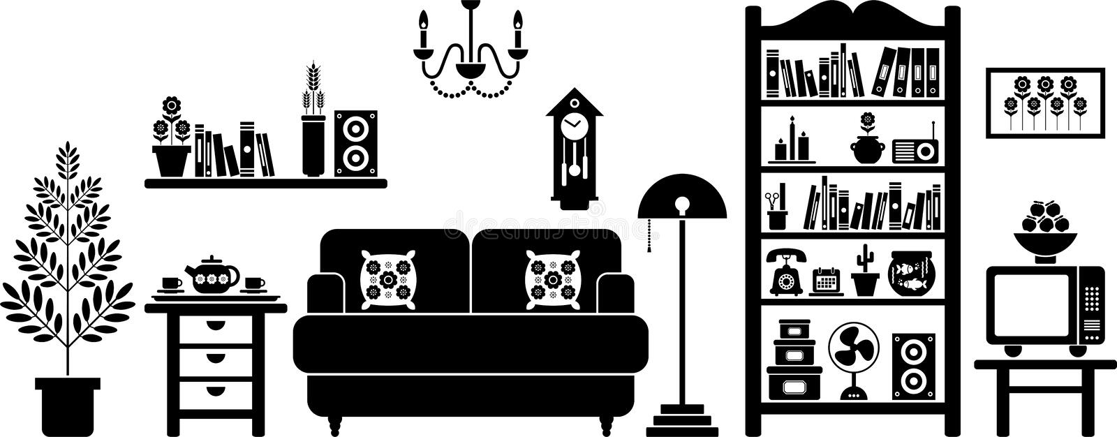 Download Living room stock vector. Image of floor, cushion, lounge - 22531715