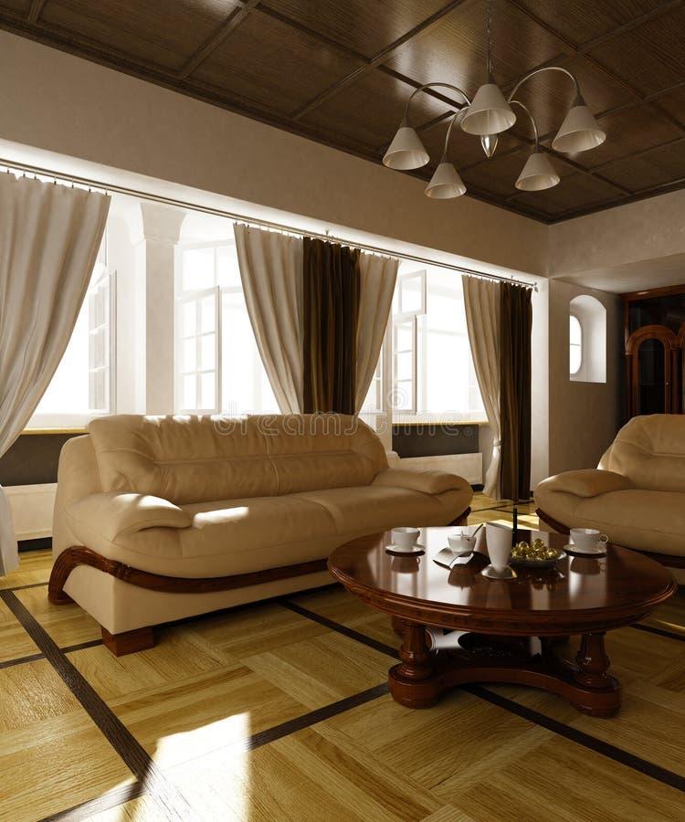 Download Living room stock illustration. Image of rich, interior - 23825574