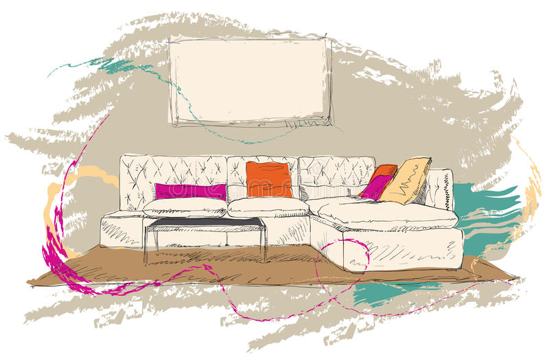 Download Living Room Royalty Free Stock Photography - Image: 25878187