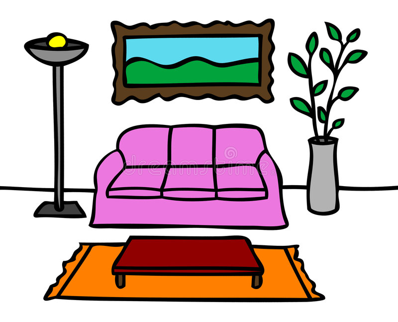Living room stock vector. Illustration of illustrations - 8615508