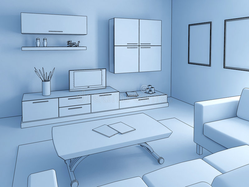 Living room c vector illustration
