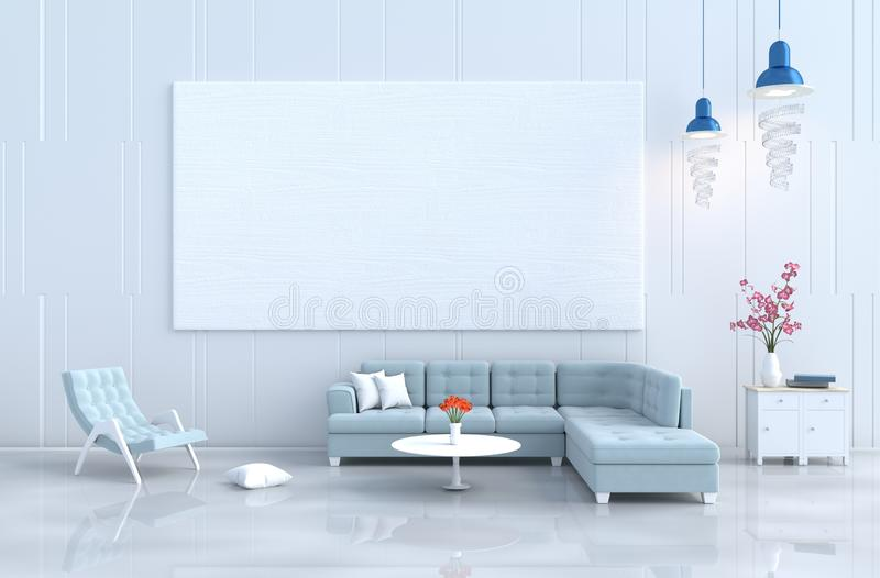 Living room Christmas`s day and new year. 3d render. royalty free stock image