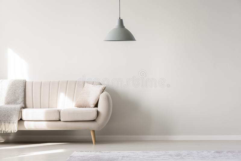 Living room with copy space vector illustration
