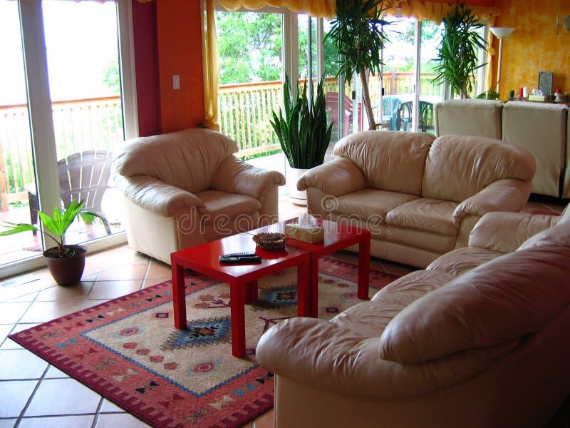Living room design stock image