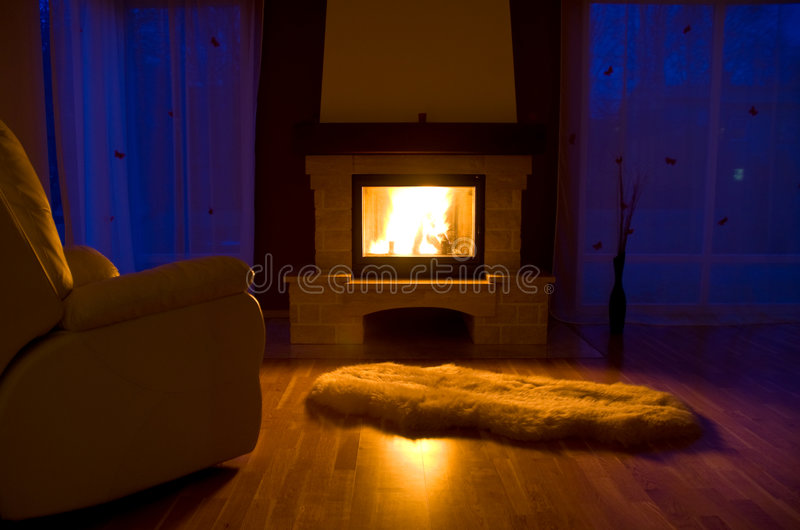 Download Living room fireplace stock photo. Image of blaze, inside - 4602880