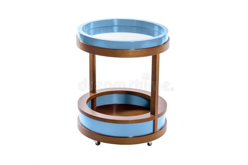 Living room furniture stand isolated. On white background, apartment, banquet, bar, blank, blue, circle, coffee, comfort, contemporary, decor, decoration royalty free stock image