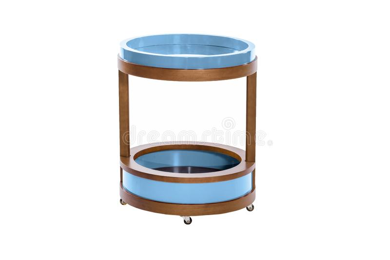 Living room furniture stand isolated. On white background, apartment, banquet, bar, blank, blue, circle, coffee, comfort, contemporary, decor, decoration royalty free stock images