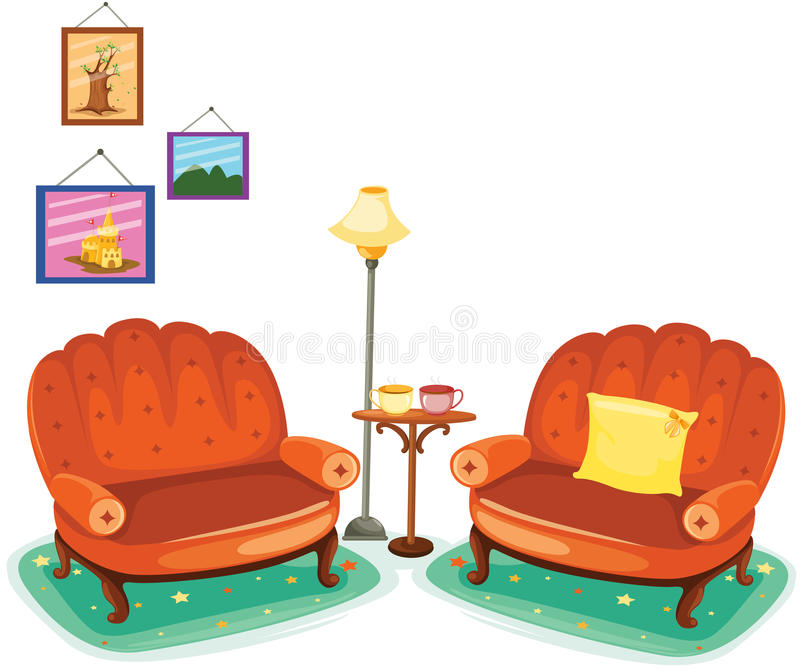 Vector Of Living Room Stock Vector Image Of Sofa: Living Room Stock Vector