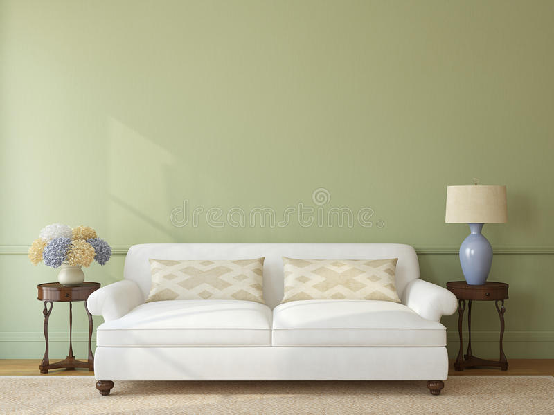 Download Living-room interior. stock illustration. Illustration of sofa - 32173769
