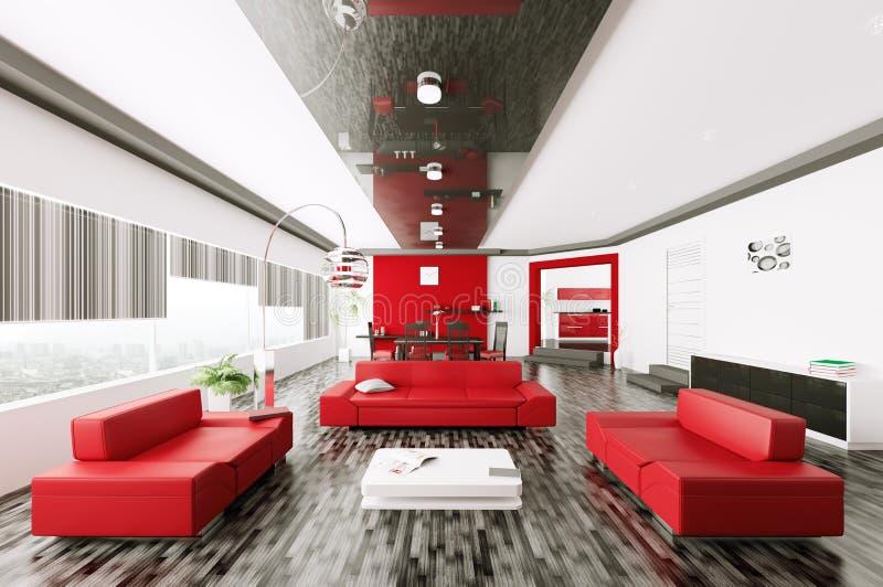 Download Living room interior 3d stock illustration. Illustration of door - 33334374