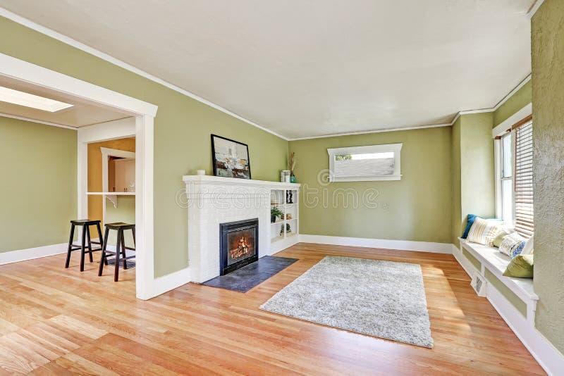 living room interior design of craftsman house stock photo image