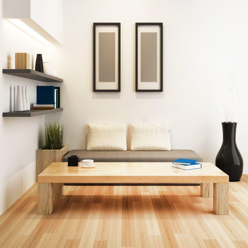 Living room of interior design stock illustration