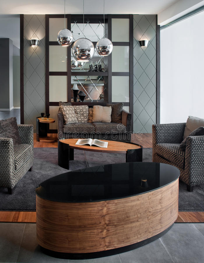 Living room interior design. Elegant and luxury. royalty free stock images