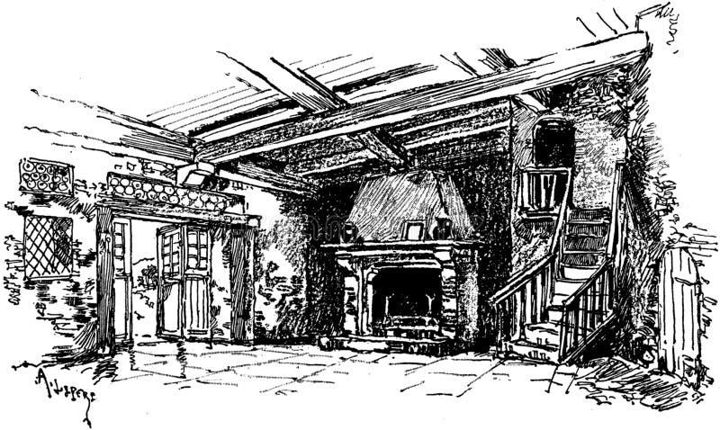 Living room interior illustration royalty free stock image