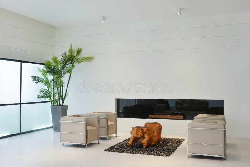 Living room. Interior for modern home soft sofa on carpet stock image