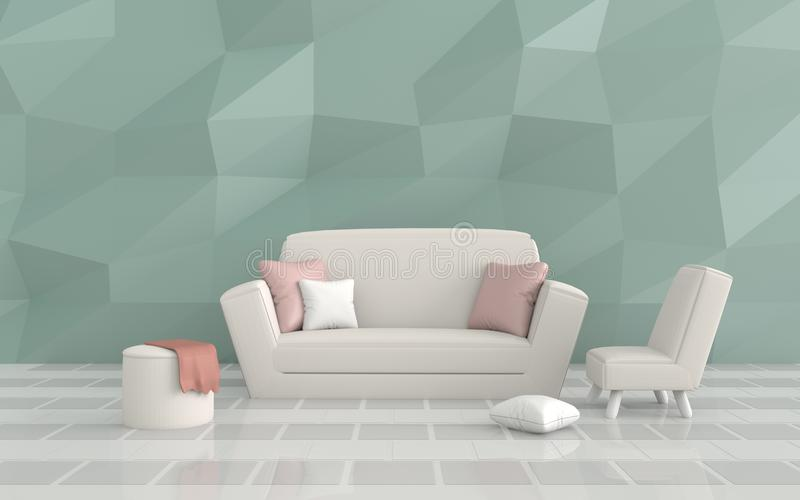 The Living Room In Lovely Day Interior Design Stock Illustration Illustration Of Furniture Cozy 90296328
