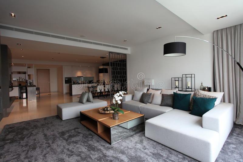 Living Room In Luxury Condo In Kuala Lumpur Editorial