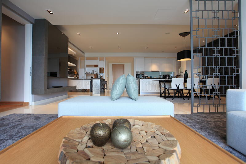 Living room in Luxury Condo in Kuala Lumpur stock photography