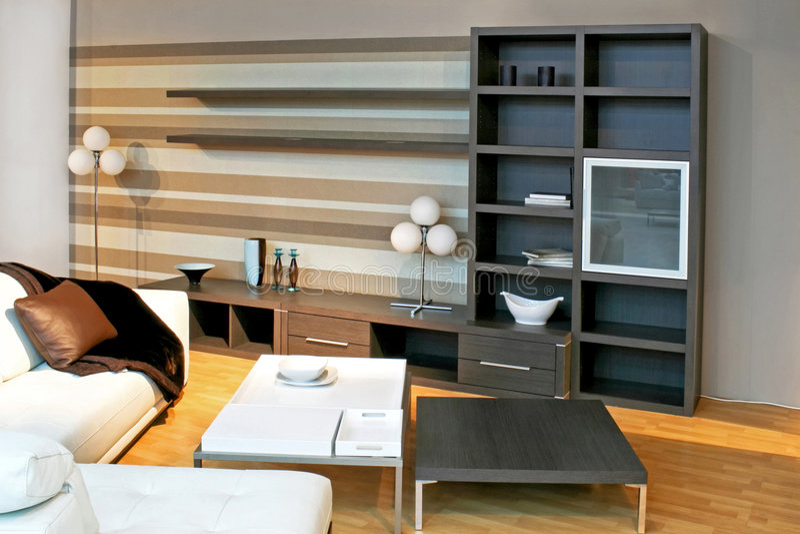 Living Room Shelf Stock Photography