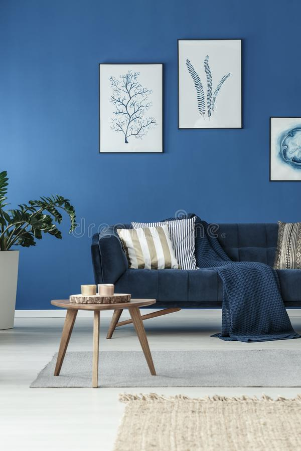 Living room with sofa stock image