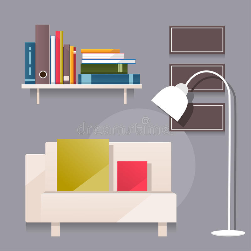 Living Room Vector Illustration Stock Vector Image