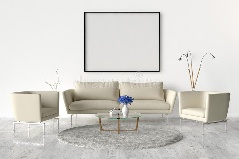 living room frames living room on the wall an empty picture frame stock 10455