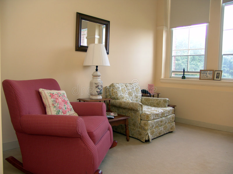 Download Living Room Well Lit By Daylight Stock Image - Image: 1124619