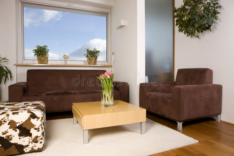 Download Living room with window stock photo. Image of home, family - 4328754