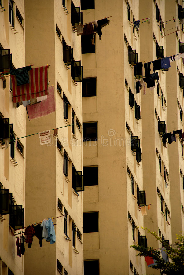 Living in Singapore HDB flats stock photography