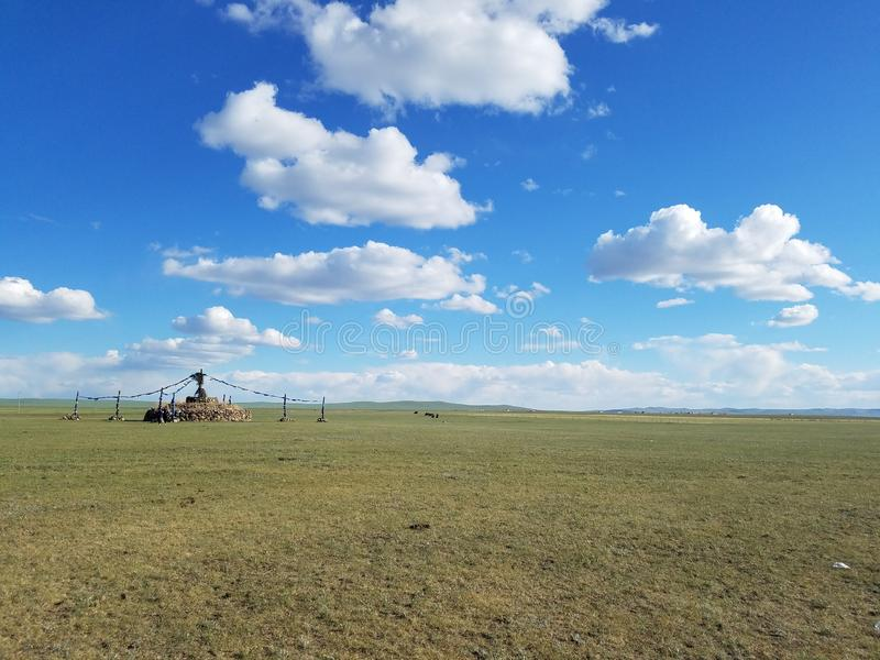 The Living Space of Nomads Grassland and ger royalty free stock photography
