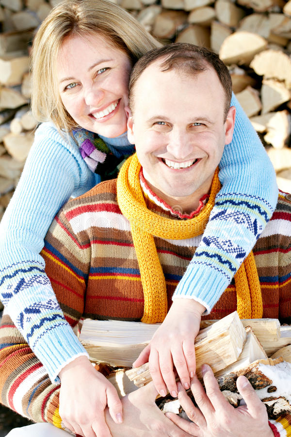 Living together. Portrait of couple of owner-occupied dwelling stock photo