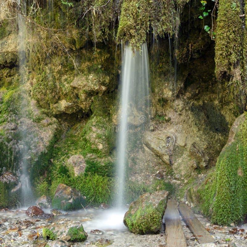 Abkhazia. Waterfall in the mountain gorge royalty free stock photos