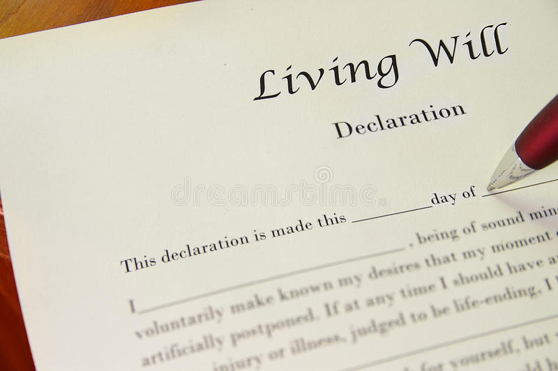 Living Will royalty free stock photography