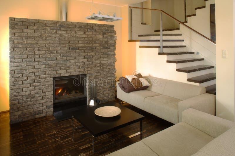 Livingroom#1 moderno immagine stock