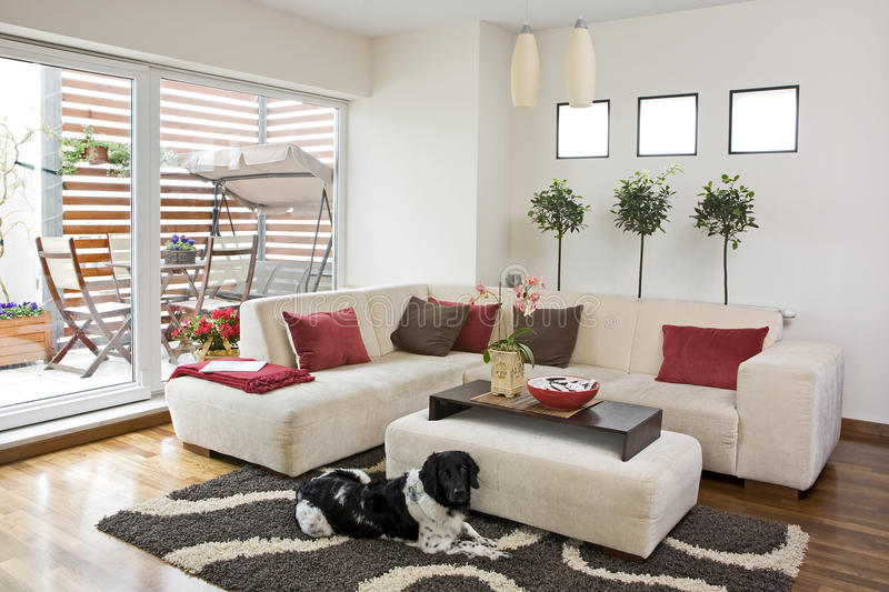 Download Livingroom stock photo. Image of interior, modern, comfortable - 9415124