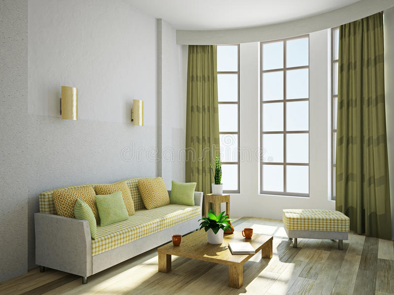 Download Livingroom With Furniture Royalty Free Stock Images - Image: 32541049