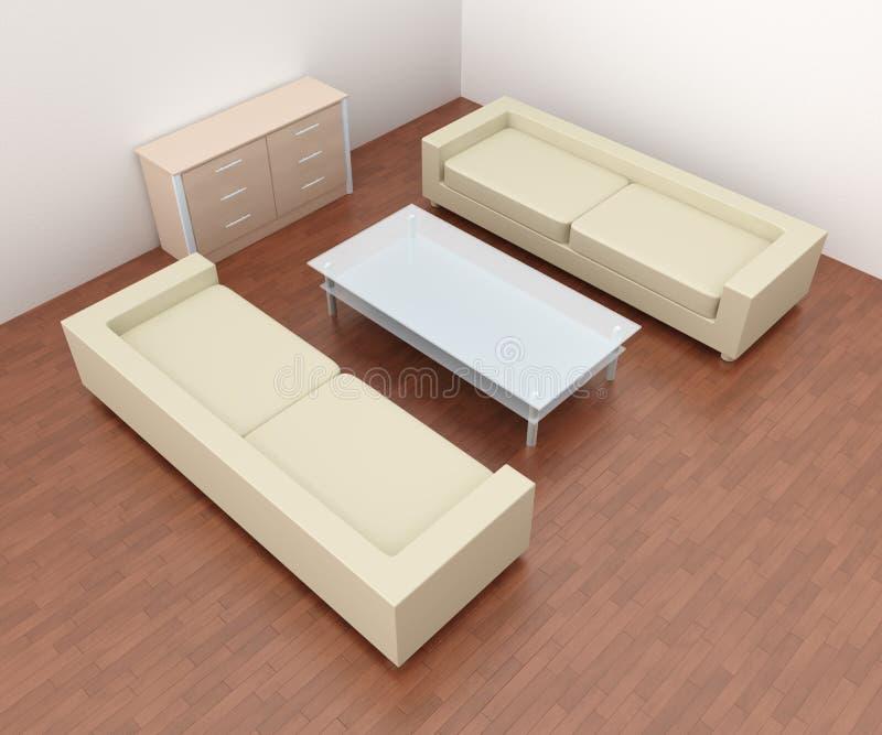 Livingroom Interior royalty free illustration