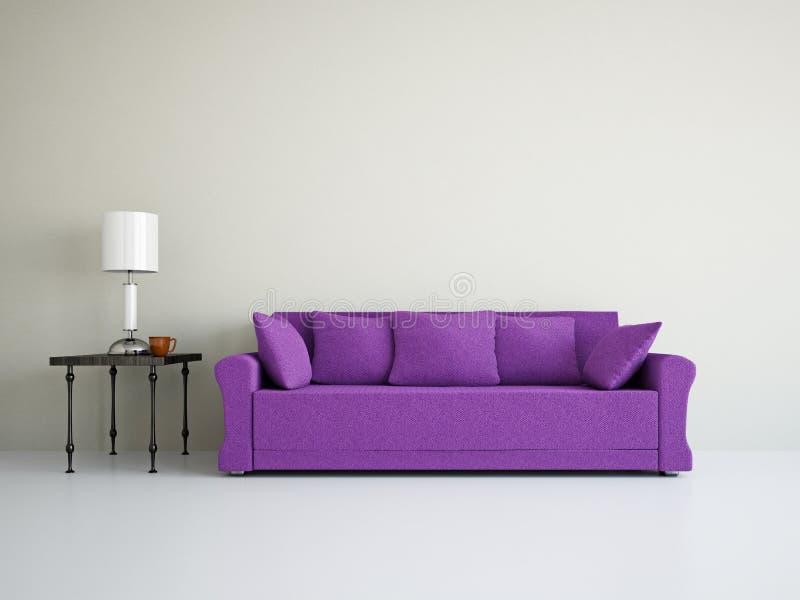 Livingroom med sofaen royaltyfria foton