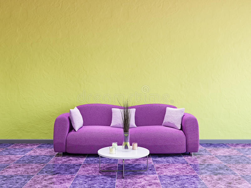 Download Livingroom  with sofa stock illustration. Image of domestic - 32168190