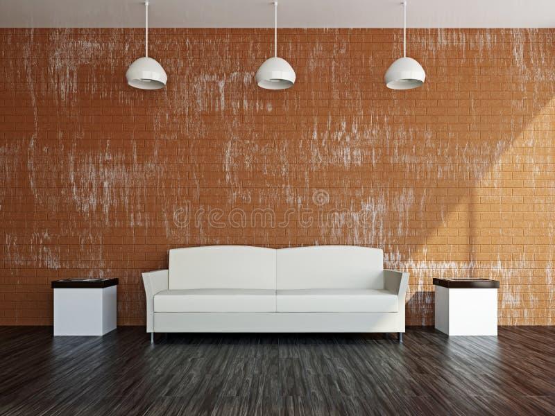Livingroom with white sofa royalty free stock photo